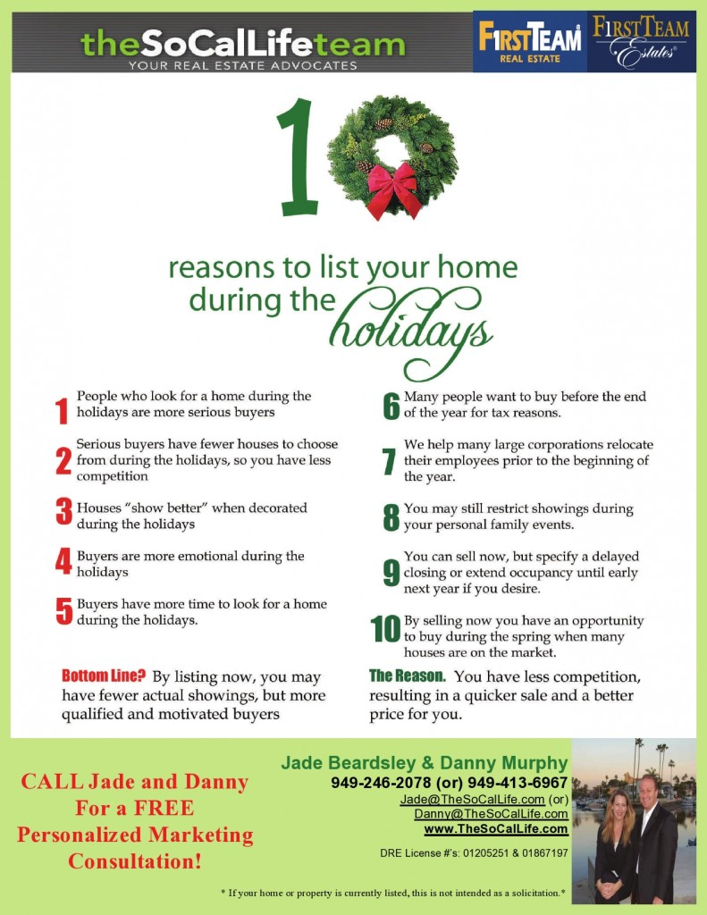 10 Reasons To Sell Your Home During The Holidays