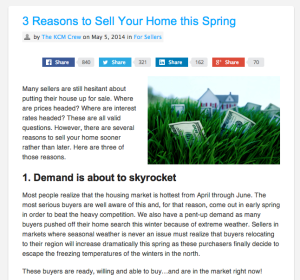 Three Reasons To Sell Your Home