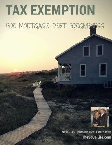 2015 Real Estate Laws: Tax Exemption for Mortgage Debt Forgiveness