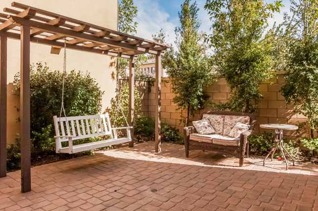 Backyard in Irvine home for sale