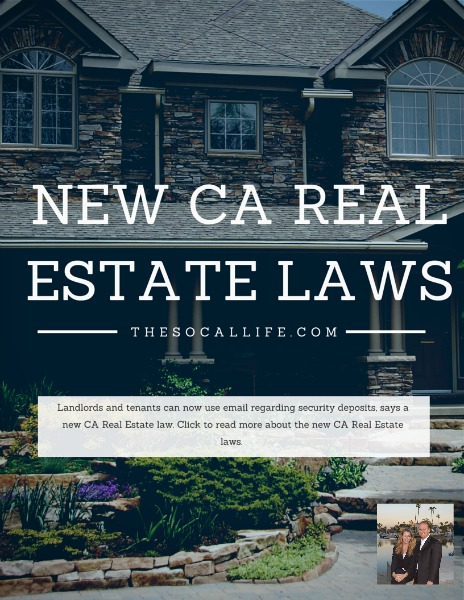 2015 CA Real Estate Laws: Landlords and tenants can use email regarding security deposits