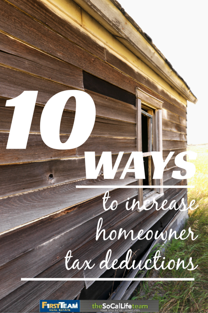 10 Ways to Increase Homeowner Tax Deductions