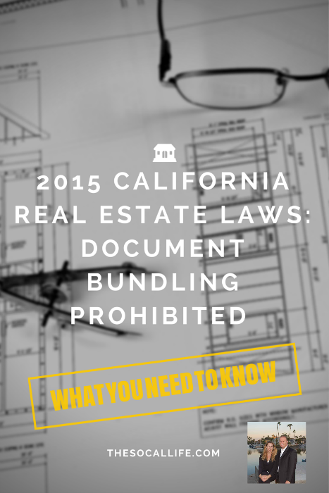 2015 California Real Estate Laws: Document Bundling Prohibited by HOAs