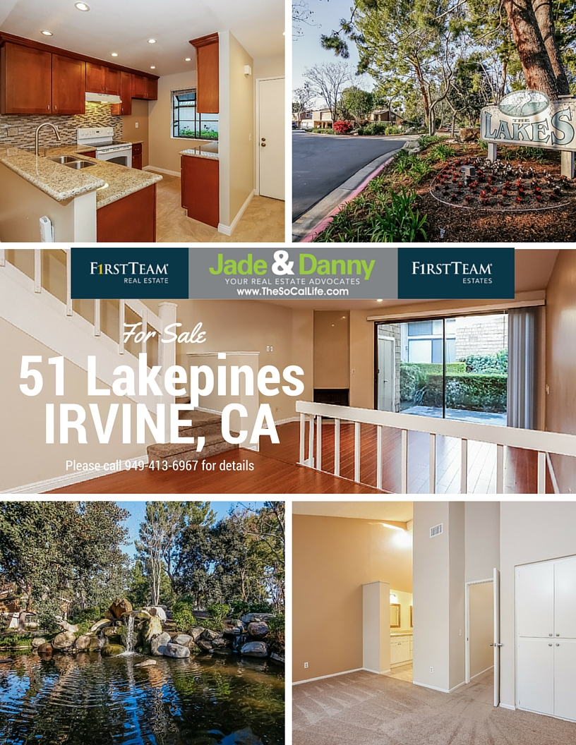 Home for Sale in Irvine: 51 Lakepines