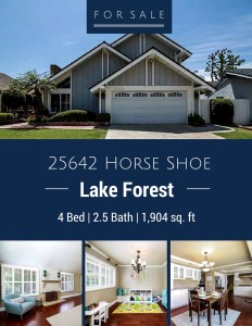 Home for Sale: 25642 Horse Shoe in Lake Forest