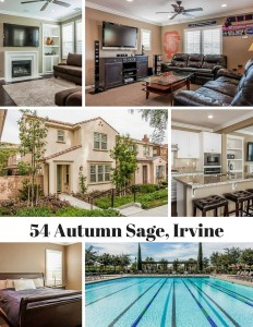 This beautiful listing is now open! 54 Autumn Sage in Irvine is your 4 bedroom, 2 3/4 bathroom dream home. Contact Jade & Danny for an appointment.