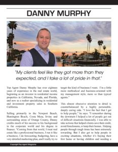 Top Agent Magazine | Danny Murphy, First Team Realty | SoCal Real Estate Agent