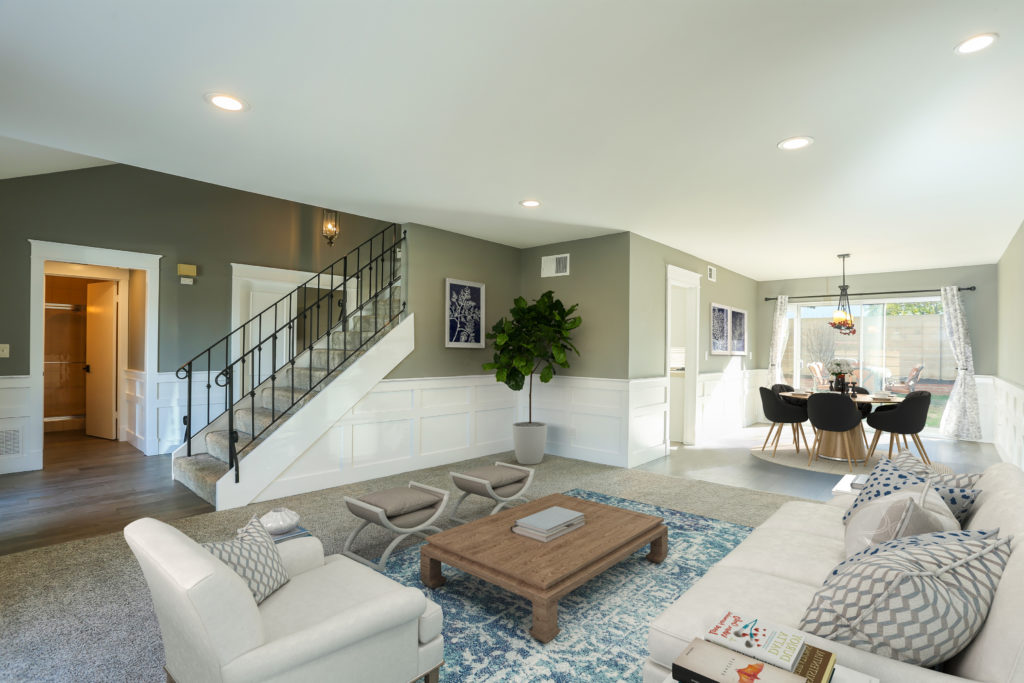 remodeled home for sale in huntington beach, ca - living room