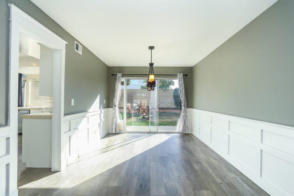 remodeled dining room in house for sale