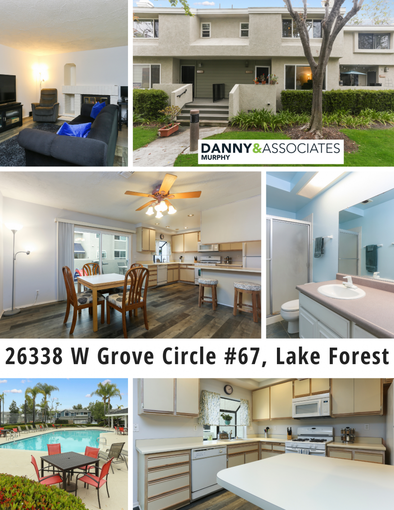 Two Story Townhouse Located in the highly desirable Grandview Crest Community. Close to good schools, parks, walking and hiking trails, freeways and shopping and entertainment at the Spectrum! Check out the details of 26338 W Grove Circle #67, Lake Forest below!