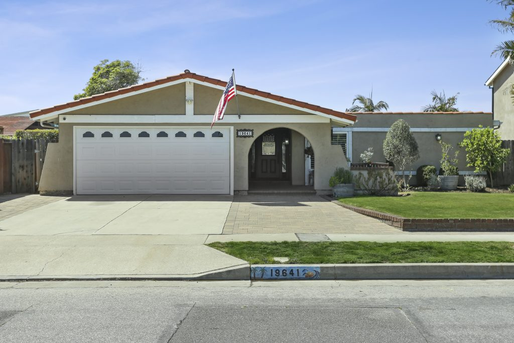 19641 Occidental Lane, Huntington Beach is a nicely remodeled, SINGLE STORY, Spanish styled home offers 3 bedrooms, 2 baths and a gorgeous backyard with a new pool and spa and is situated on a quiet street in the Glen Mar tract!